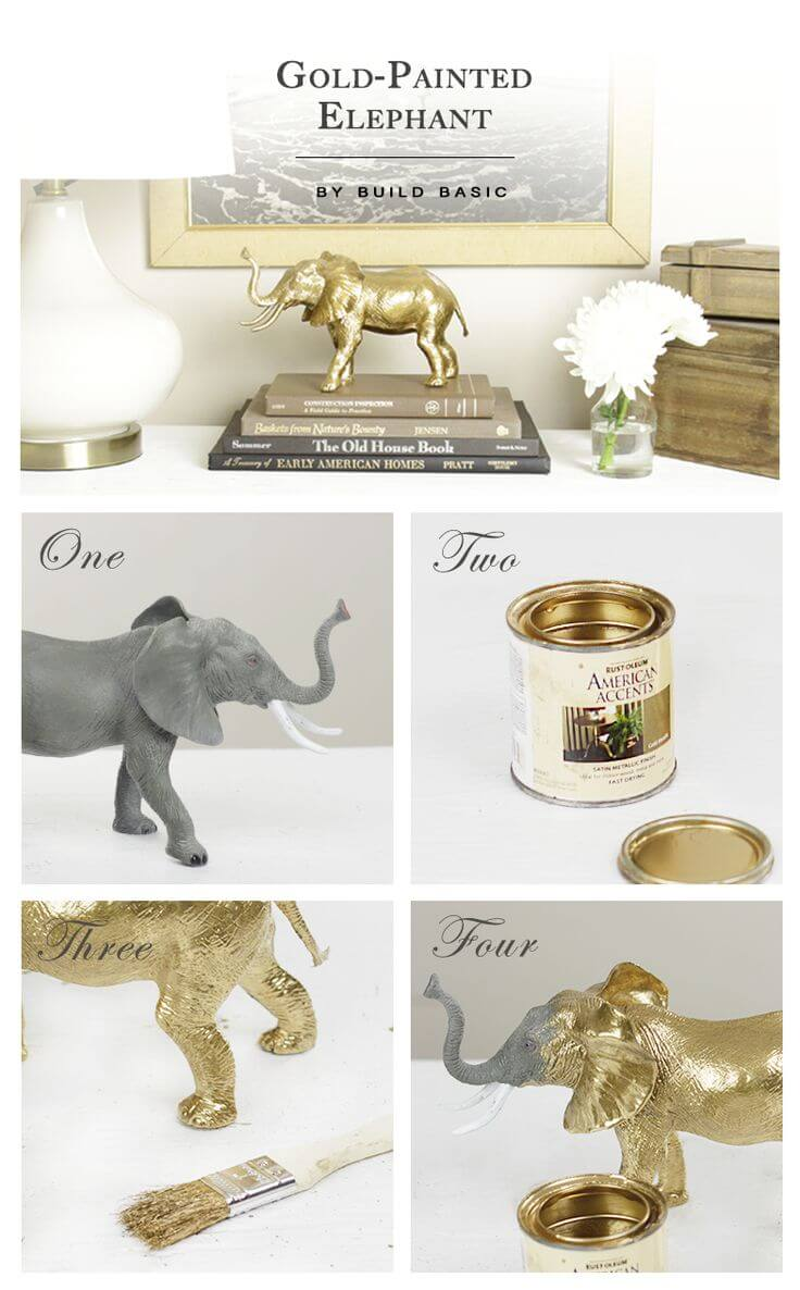 From Cheap Elephant Toy to Chic Decor