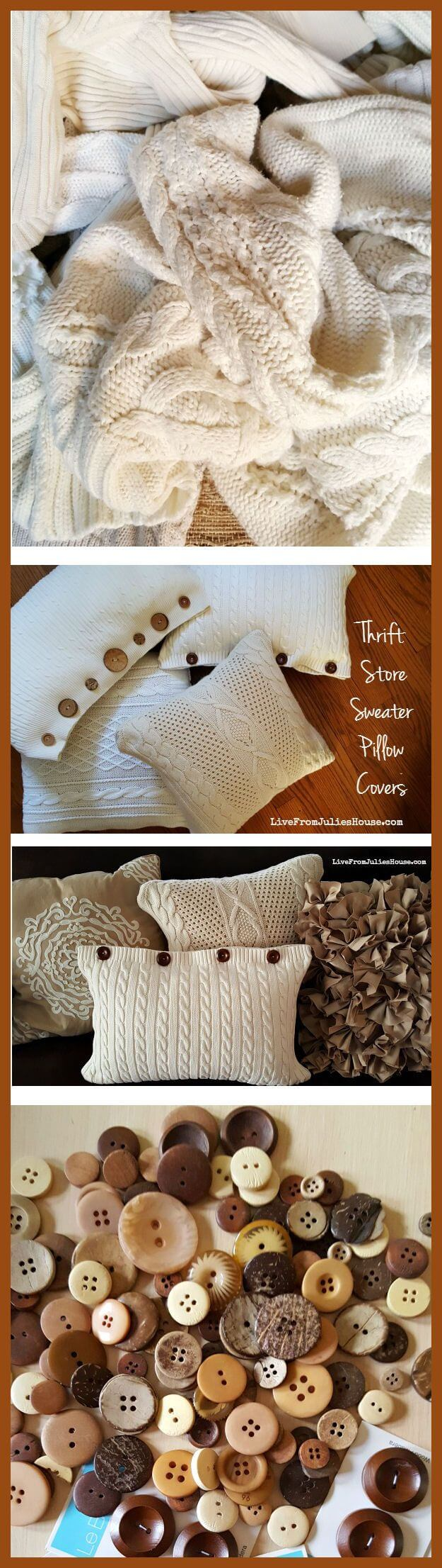 Thrift Store Sweater Pillow Covers