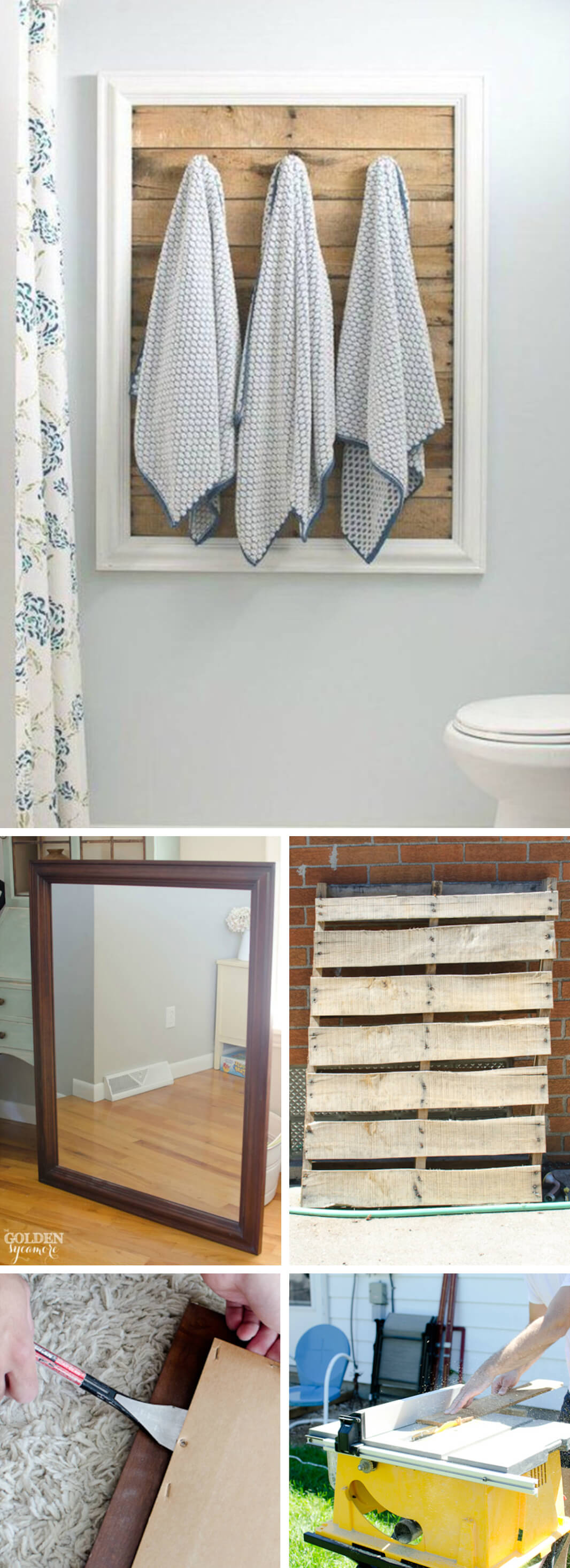 Wood Pallet Bathroom Towel Rack