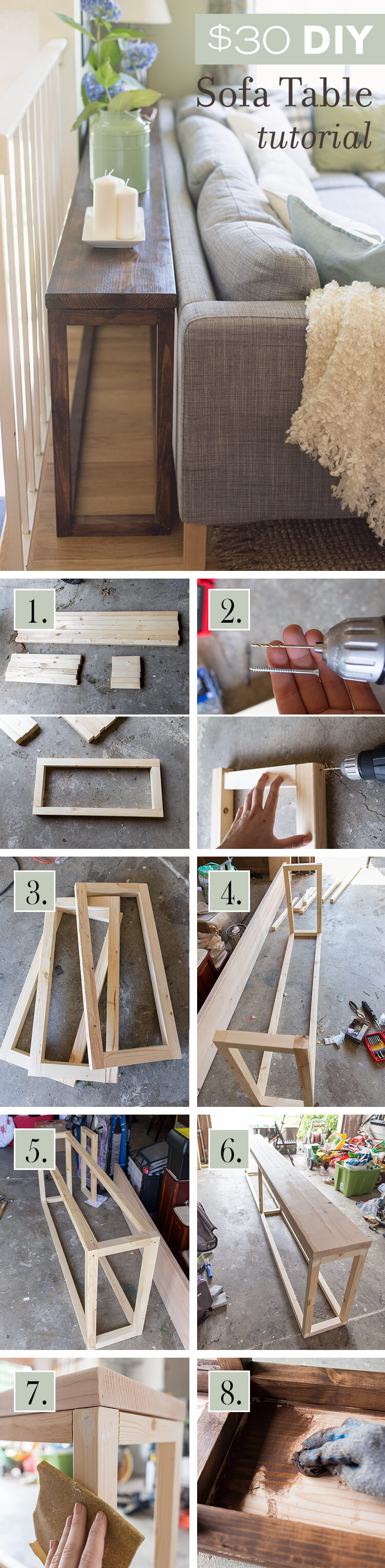 diy living room furniture. DIY Wall To Sofa Table Diy Living Room Furniture