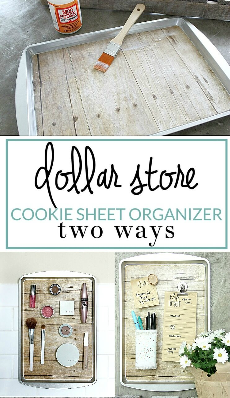 Clever Upcycled Cookie Sheet Organizer Craft