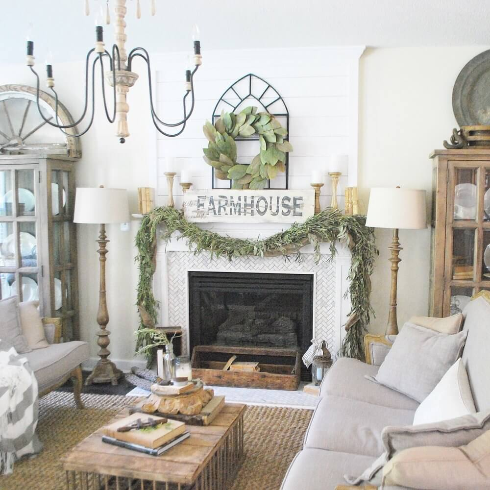 16 Stunning French Style Living Room Ideas: 28 Best Farmhouse Mantel Decor Ideas And Designs For 2019