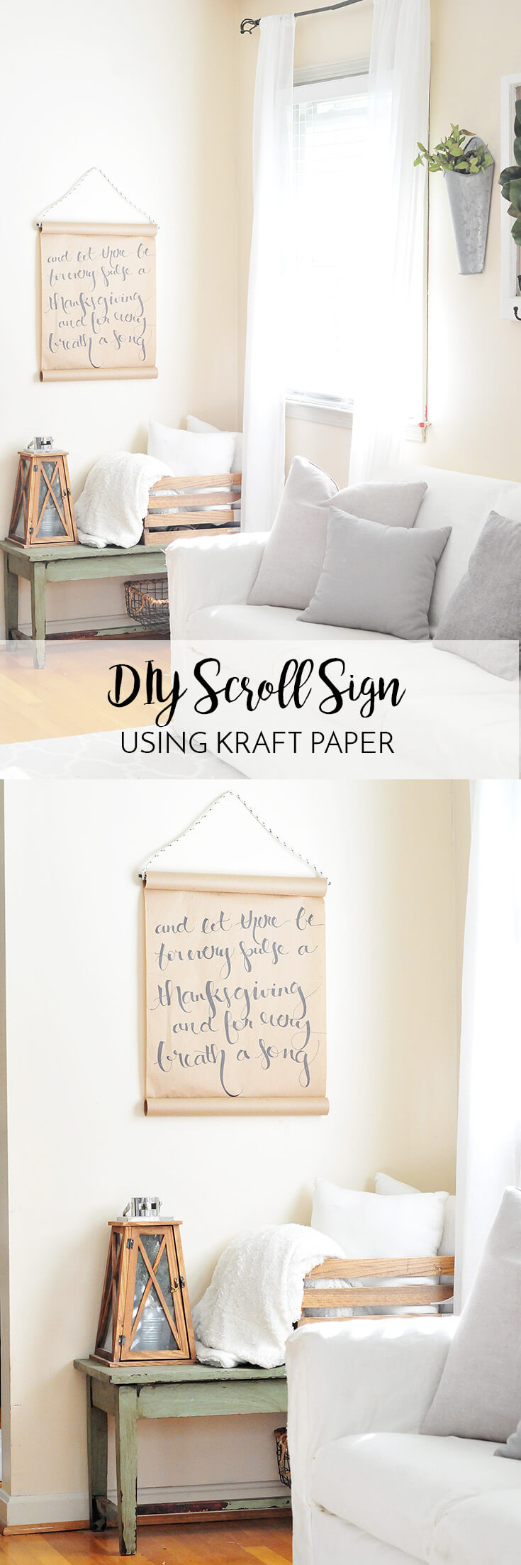 DIY Paper Scroll Wall Art