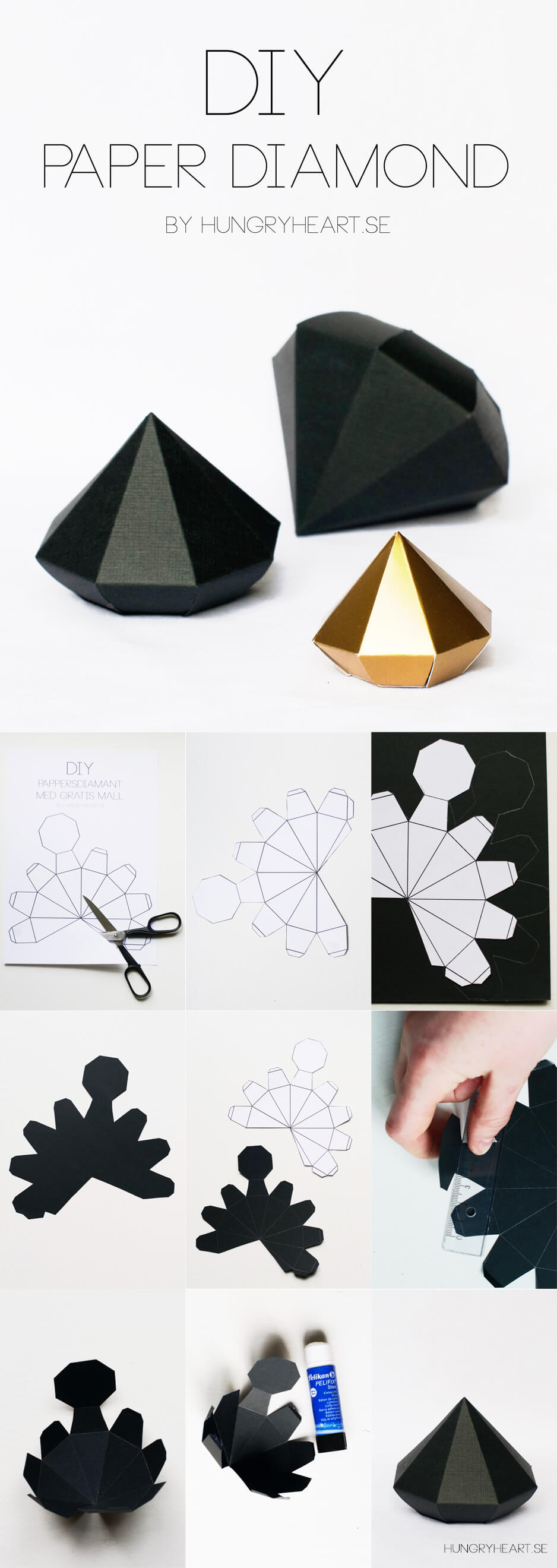 DIY 3D Decorative Paper Gems