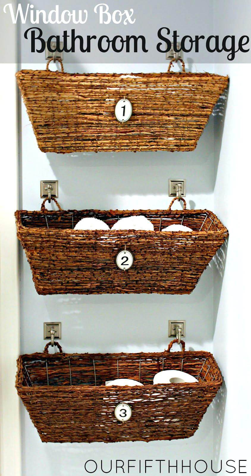 Wicker Basket Bathroom Storage Idea