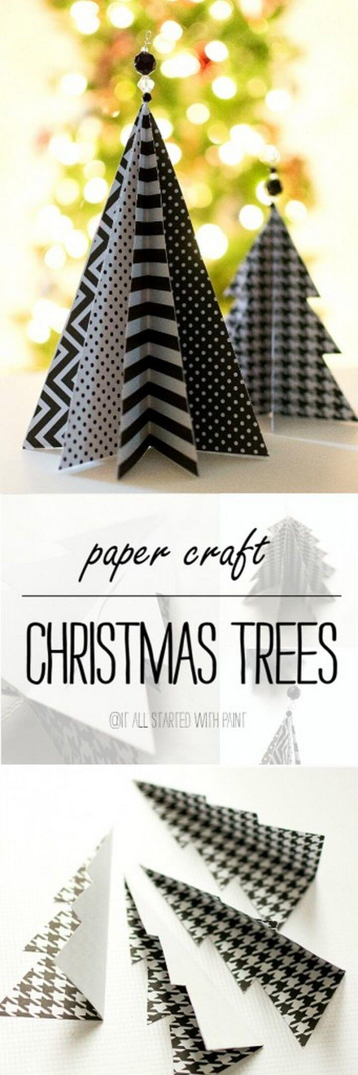 Cute DIY 3D Christmas Trees