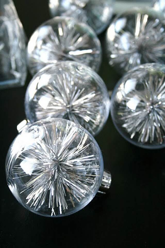 Space Age Sputnik Tinsel Ornaments