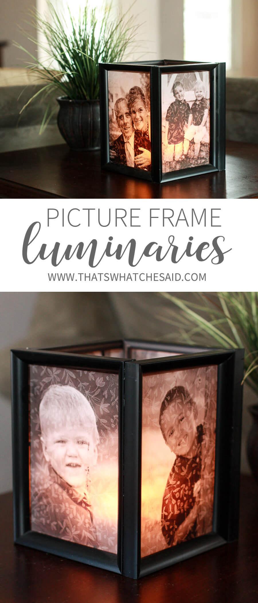 Backlit Picture Frame Cube Candleholder