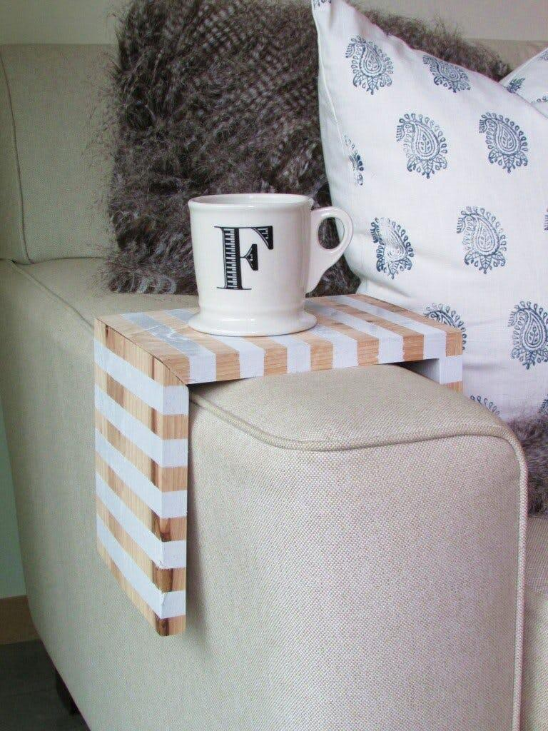 Simple Striped Armchair Coffee Caddy