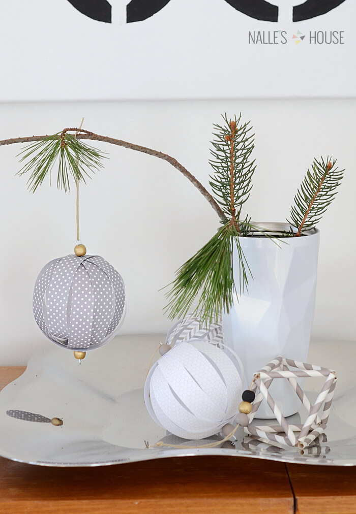 Easy DIY Paper Christmas Ornaments