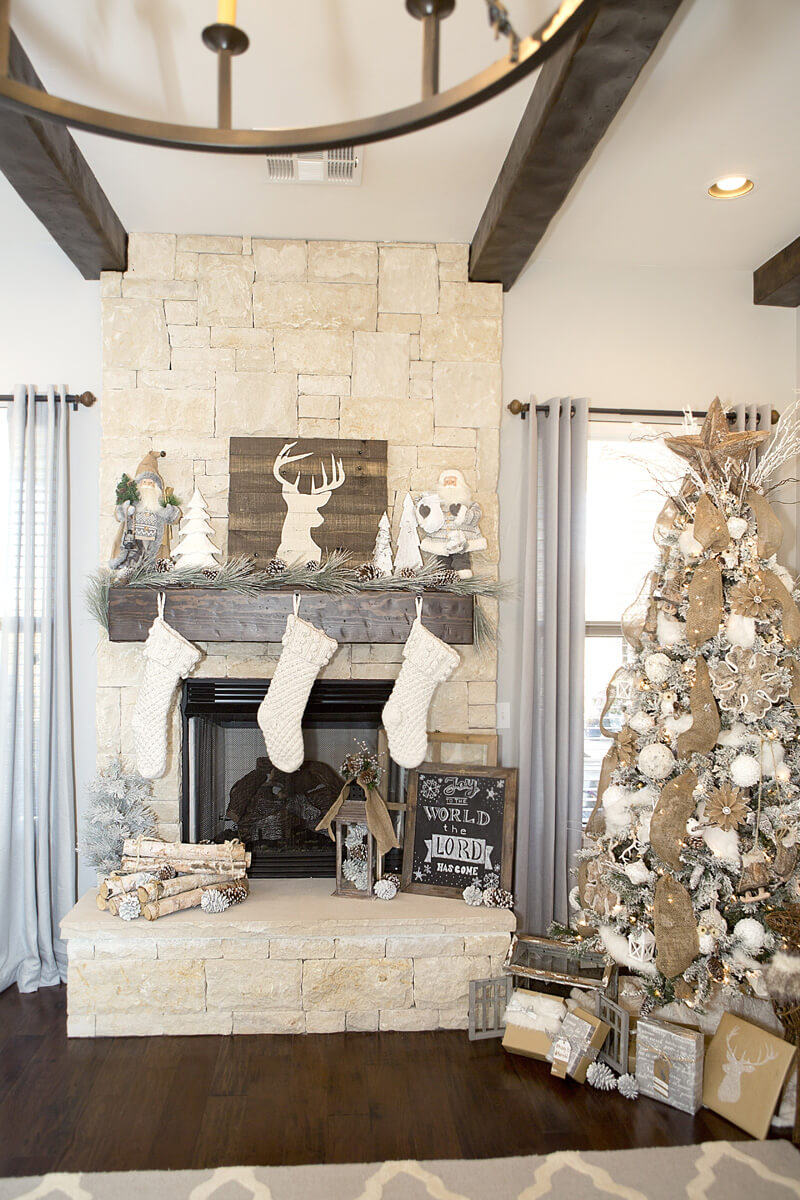 Farmhouse Decor For Living Rooms: 28 Best Farmhouse Mantel Decor Ideas And Designs For 2019