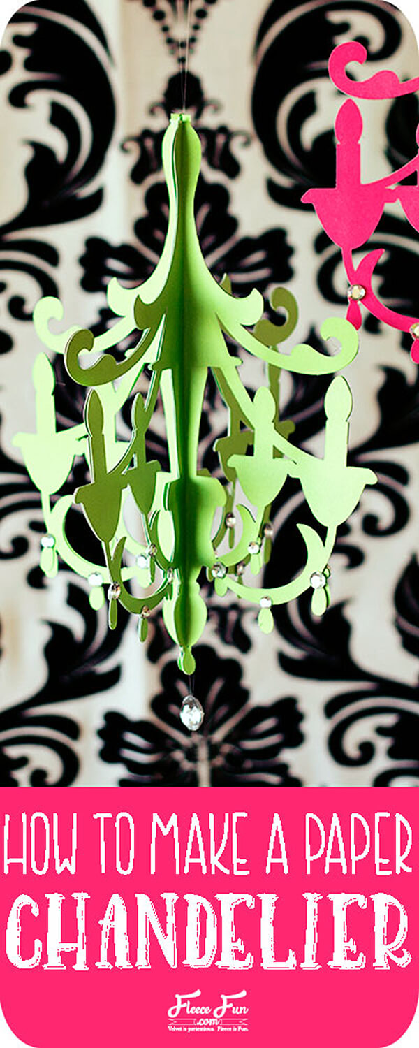 DIY Decorative Paper Chandelier Project