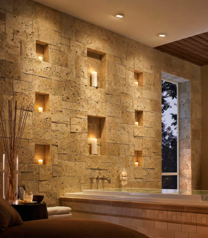 26 egyptian revival sophistication with stone insets - Wall Interiors Designs