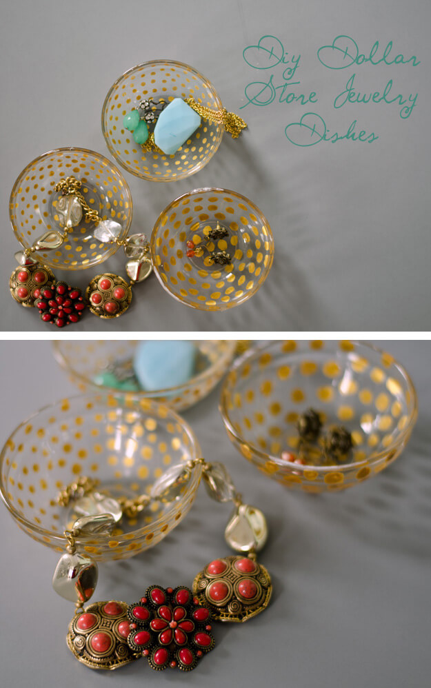 Gilt Polka Dot Jewelry Organizers