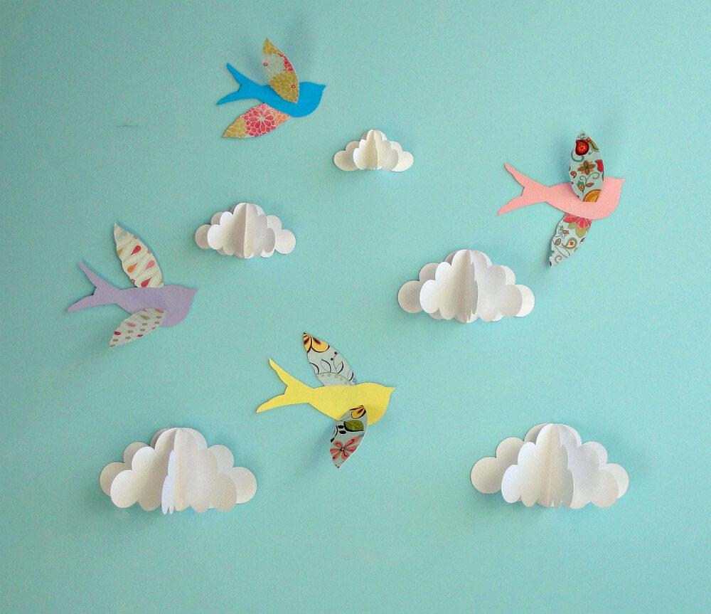 Cute DIY Scrapbook Paper Birds