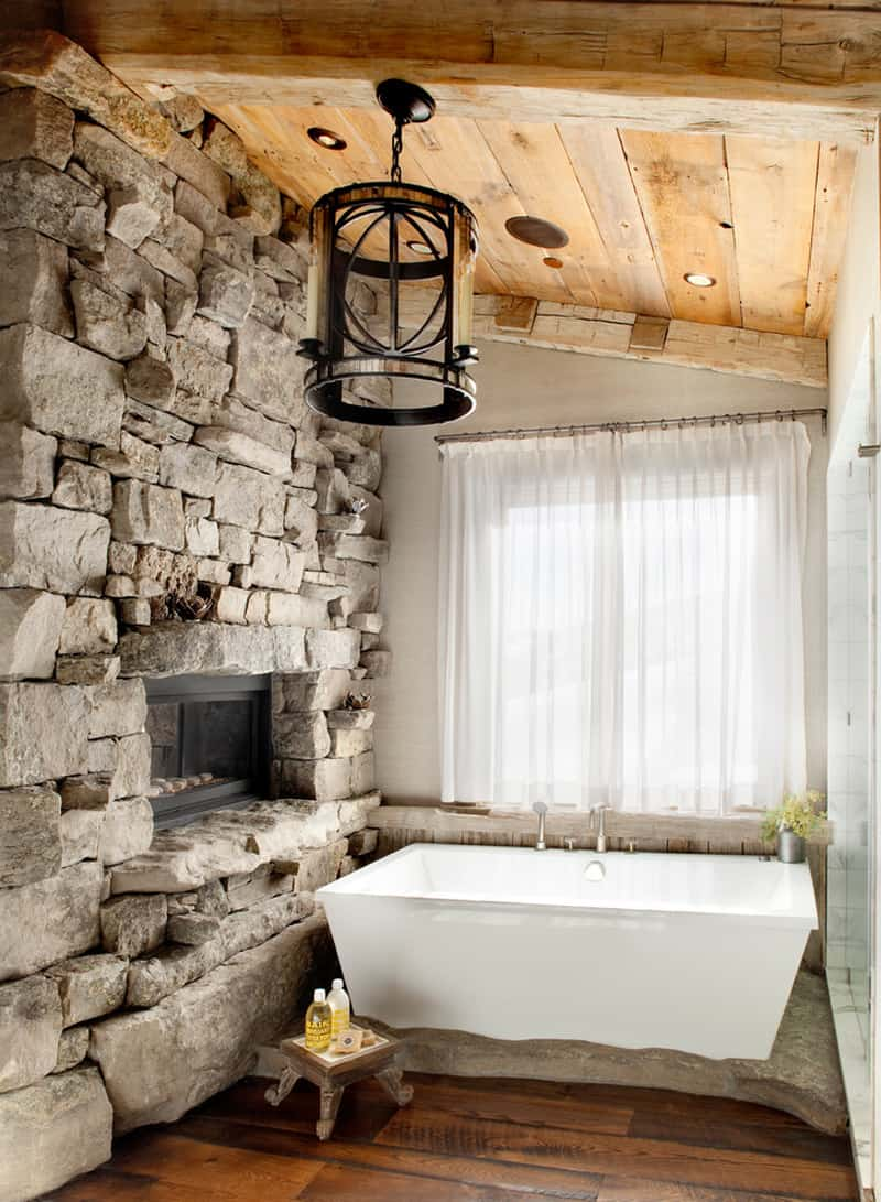 Nice Gothic Interior Stone Wall Ideas