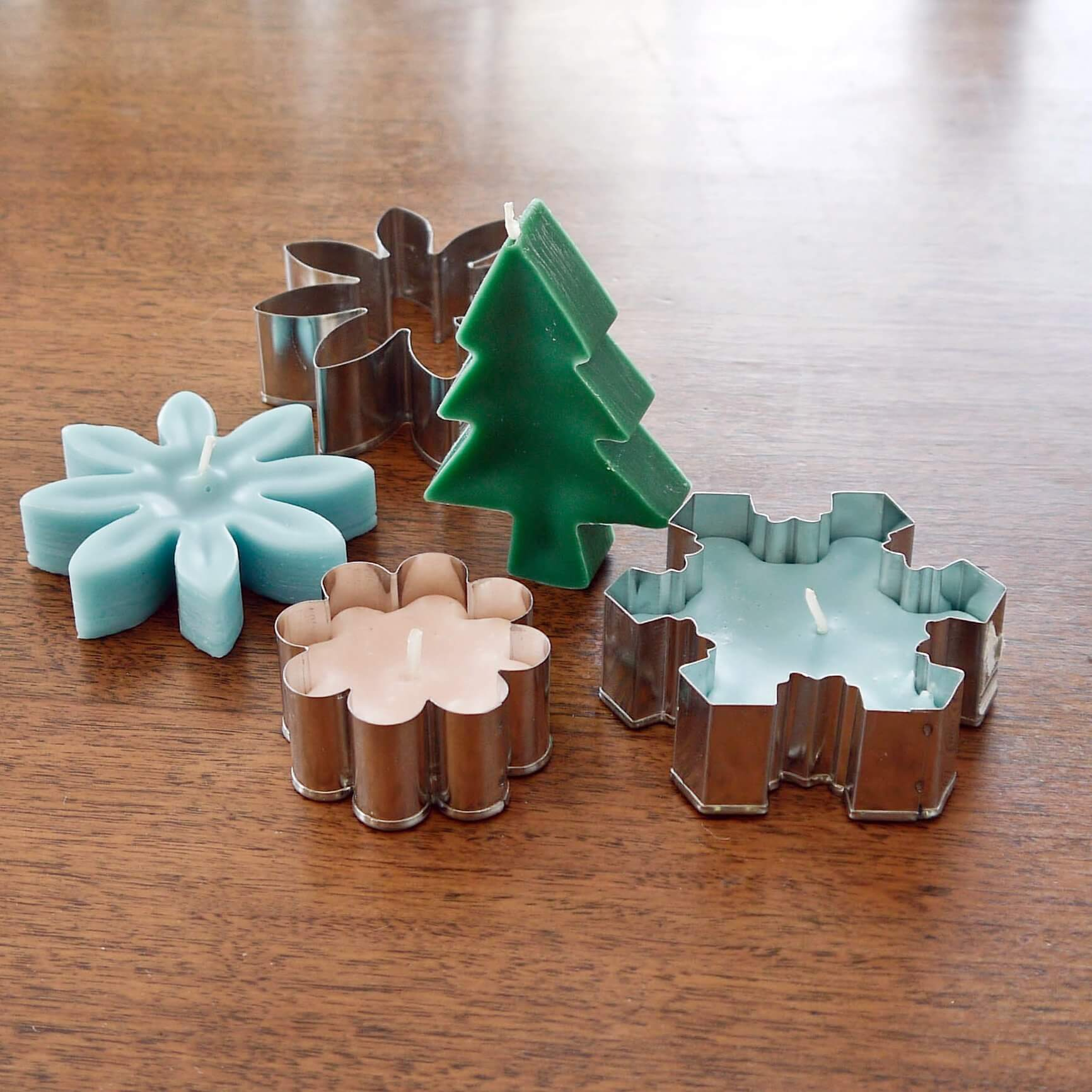 Cookie Cutter Christmas Candle Craft