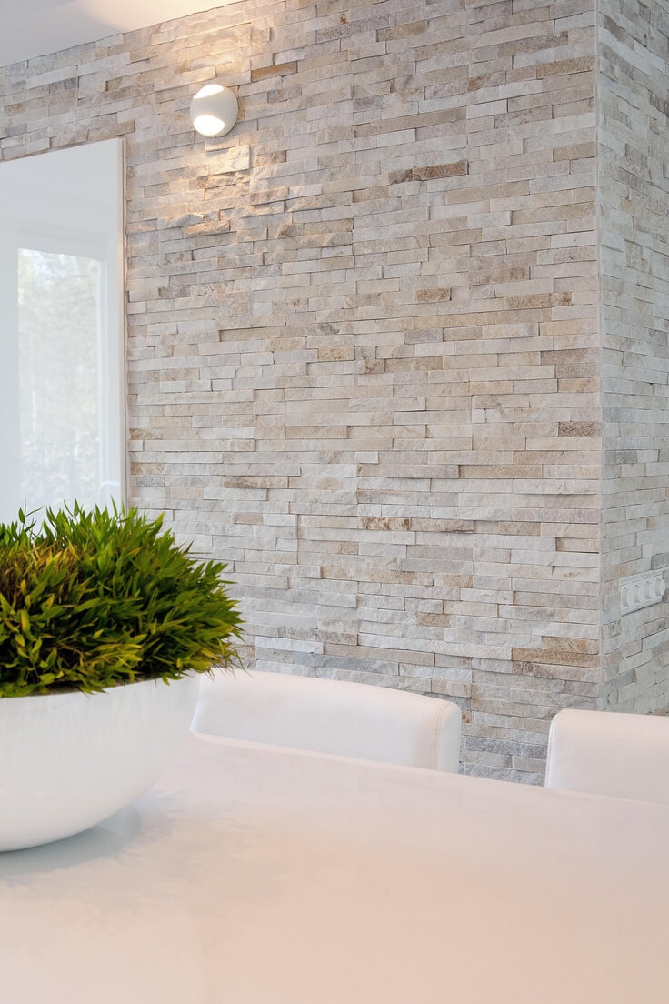 Modernist by Nature Quarried Stone Wall