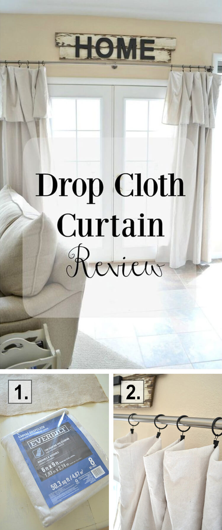 Custom Drapes from Drop Cloths