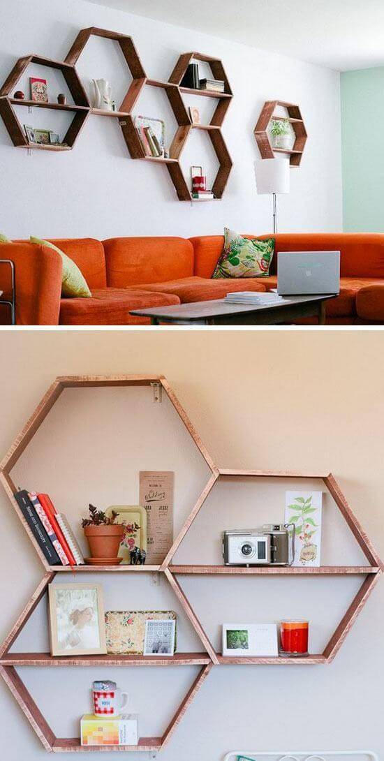 Roughhewn Honeycomb Hanging Shelf Assembly