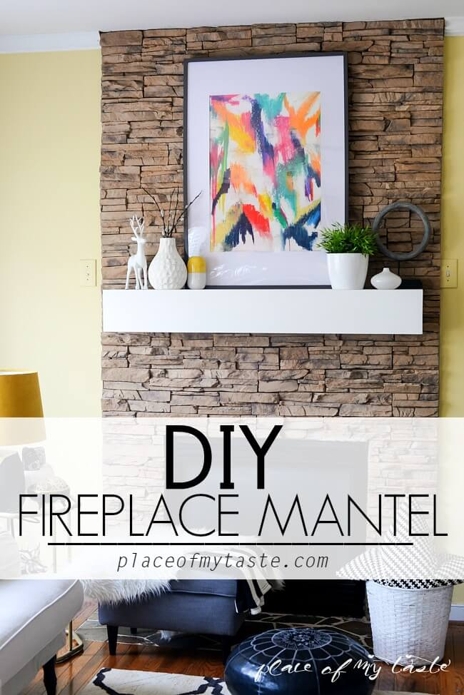 No Carpenter No Problem DIY Fireplace Mantel