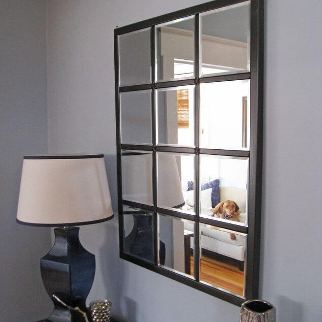 The Leaded Look Rectangular Wall Mirror