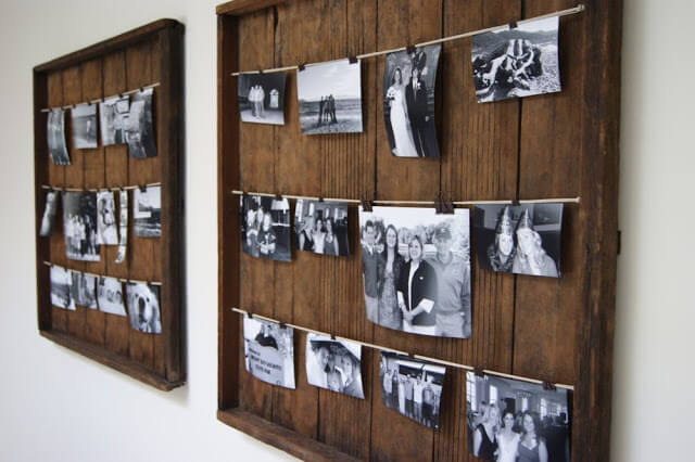 Monochromatic Darkroom Drying Rack Photo Displays