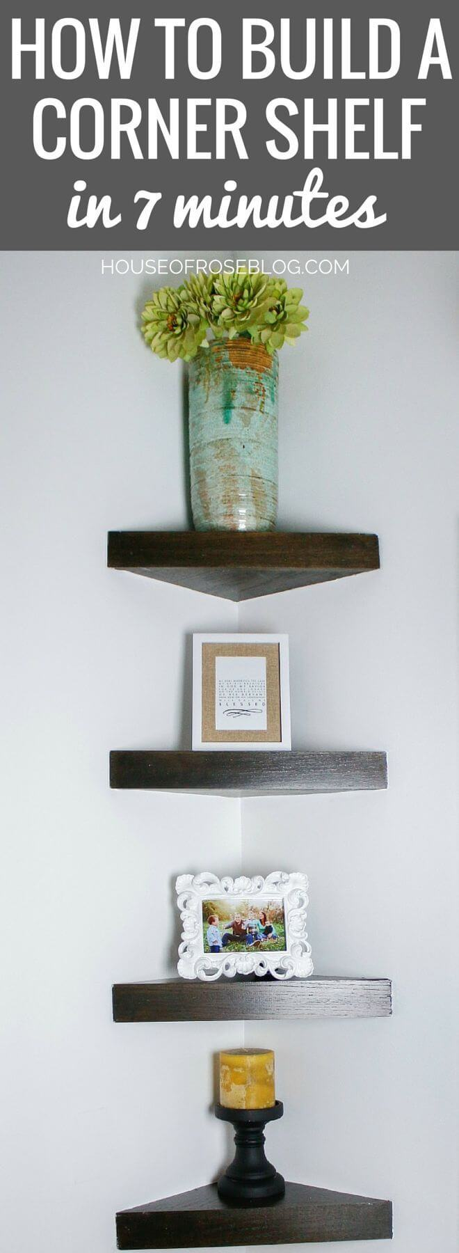 10-Minute Amateur Friendly Corner Shelf Project
