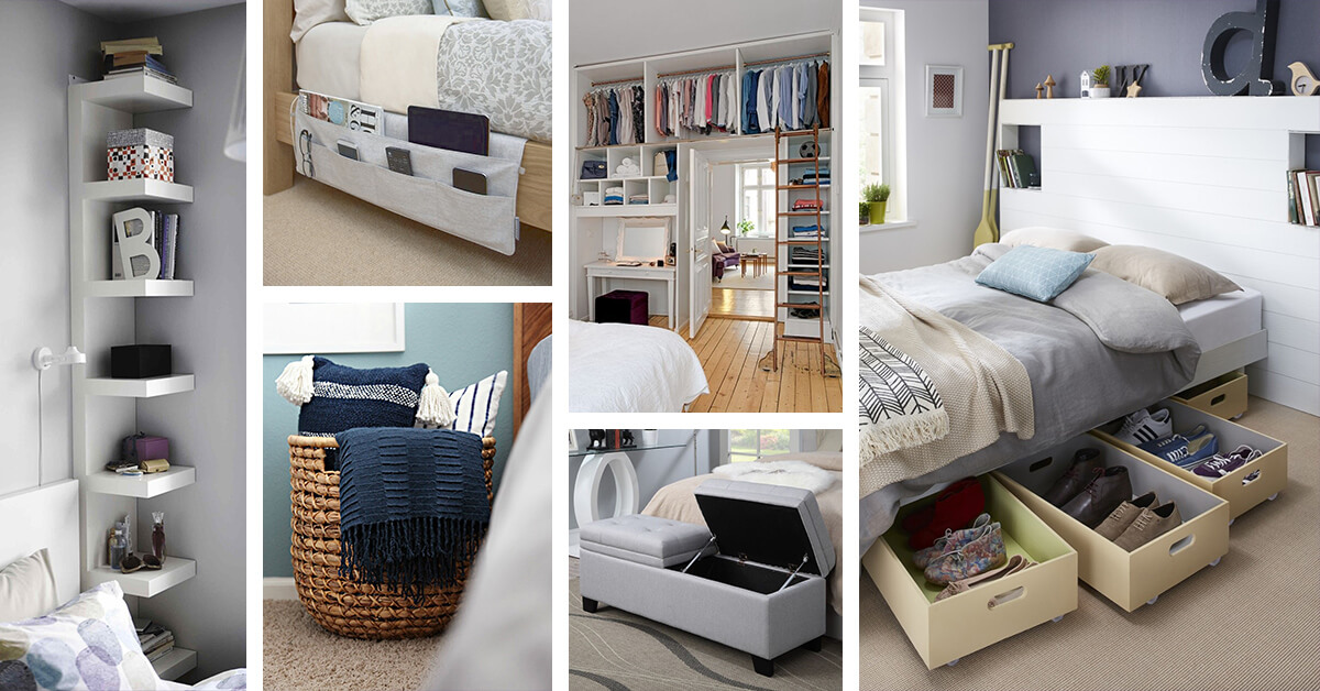 38 Brilliant Bedroom Organization Ideas That Will Help You Keep Everything In Its Place