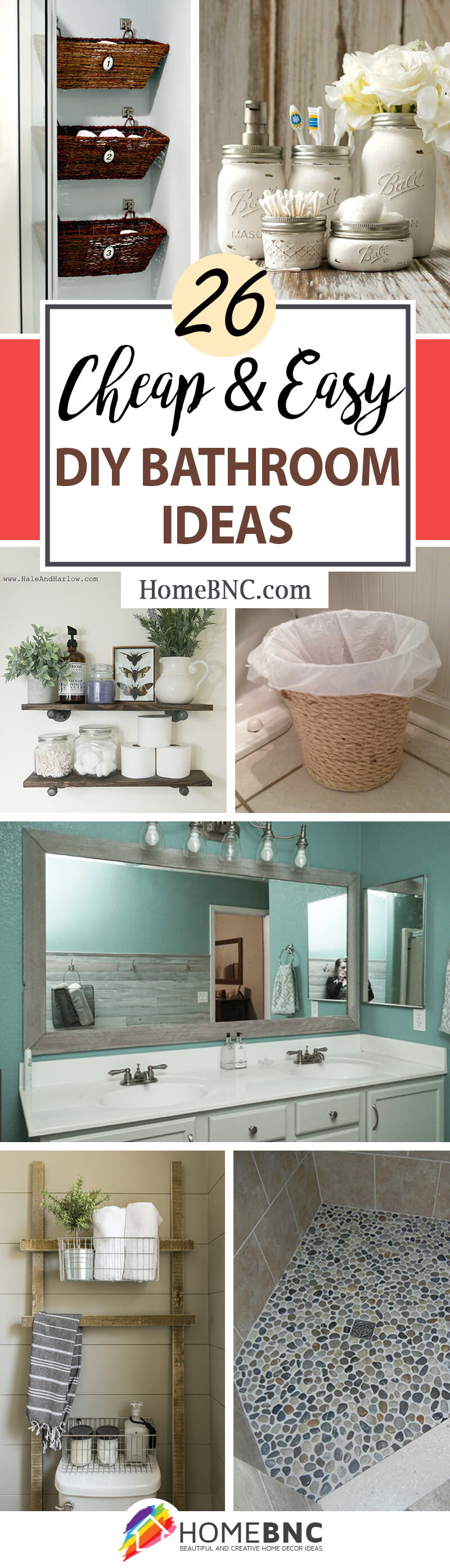 6 Best DIY Bathroom Ideas and Designs for 6