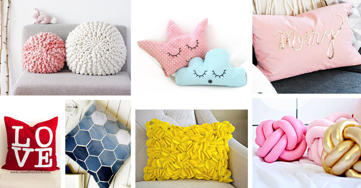 26 Best Diy Pillow Ideas And Designs For 2021