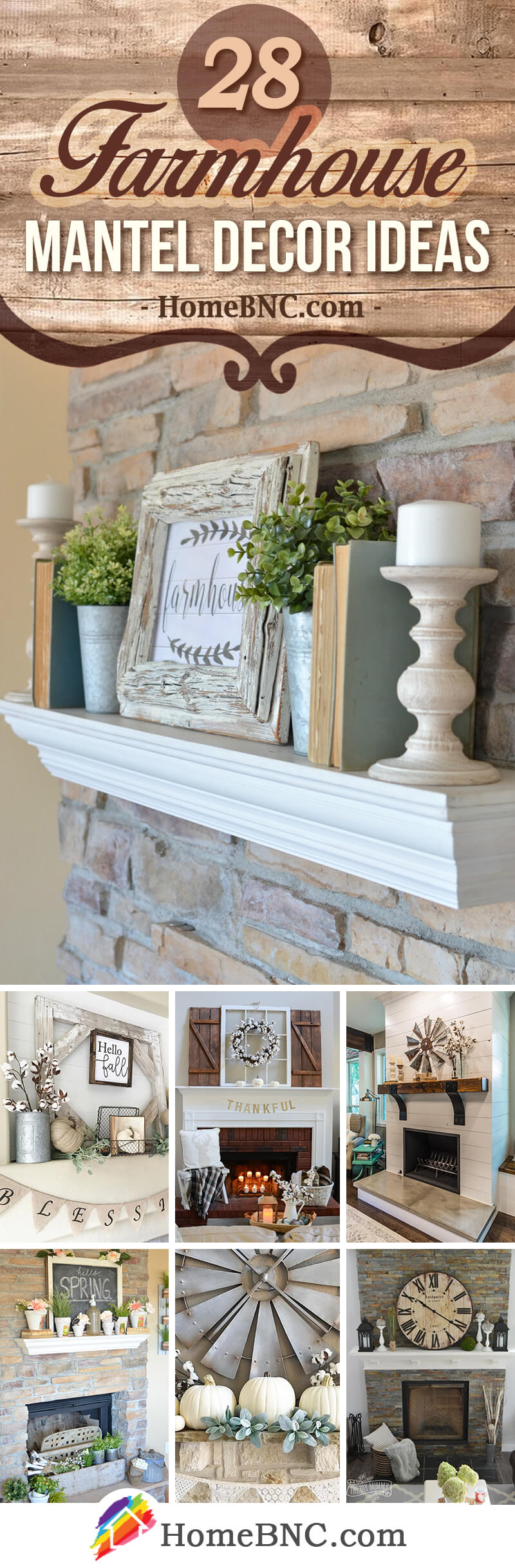 28 Stylish Farmhouse Mantel Decor Ideas For Rustic Interiors