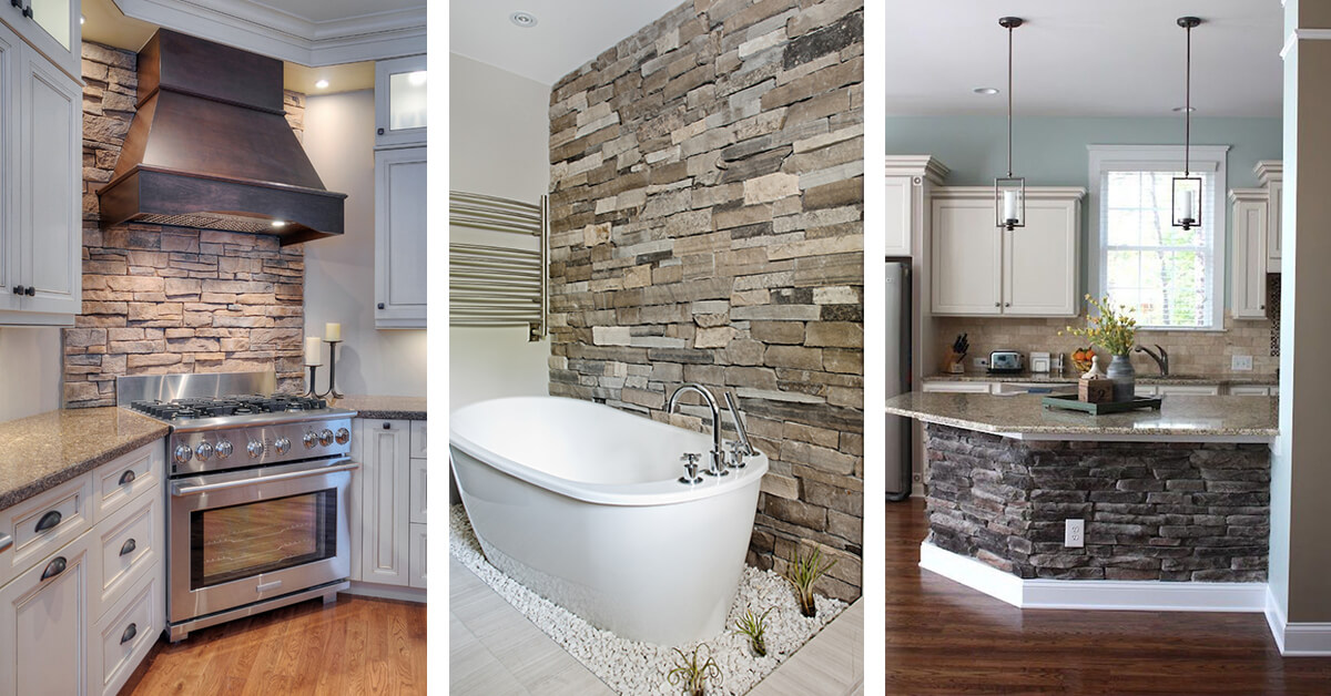 Genial 33 Best Interior Stone Wall Ideas And Designs For 2019