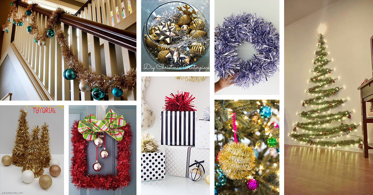 22 best tinsel decorating ideas and designs for 2018 - Tinsel Christmas Decorations