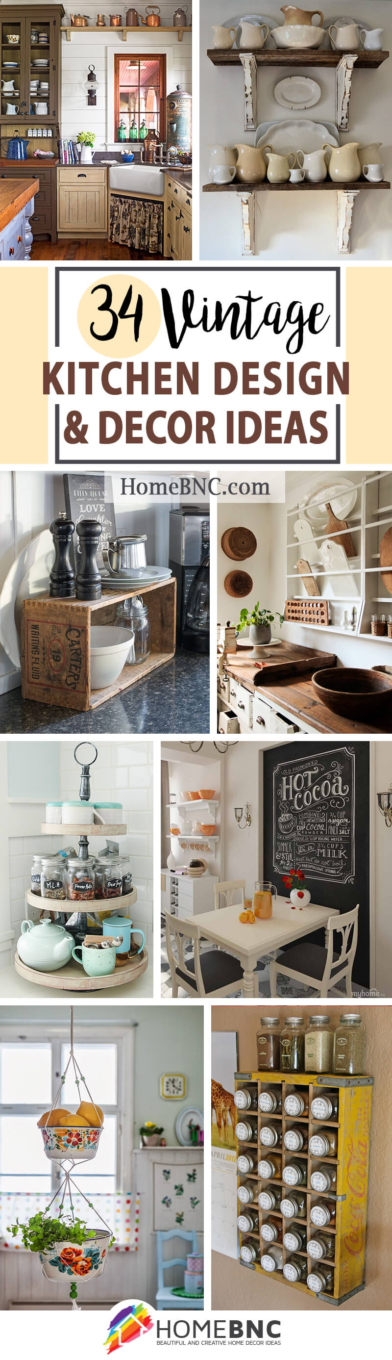 34 Trendy Vintage Kitchen Design And Decor Ideas To Impress Your Guests