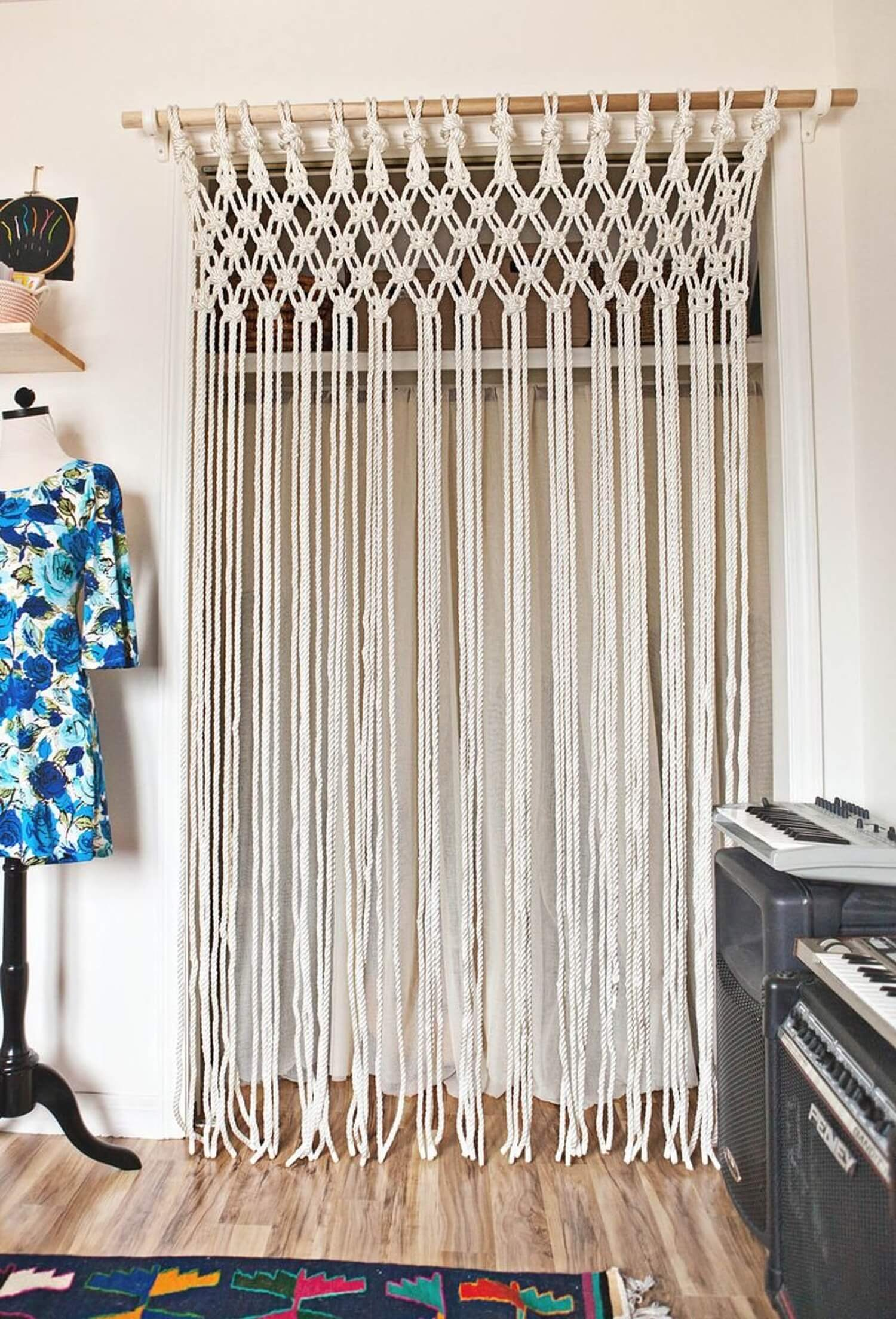 Vintage Macramé Off-White DIY Wall Hanging