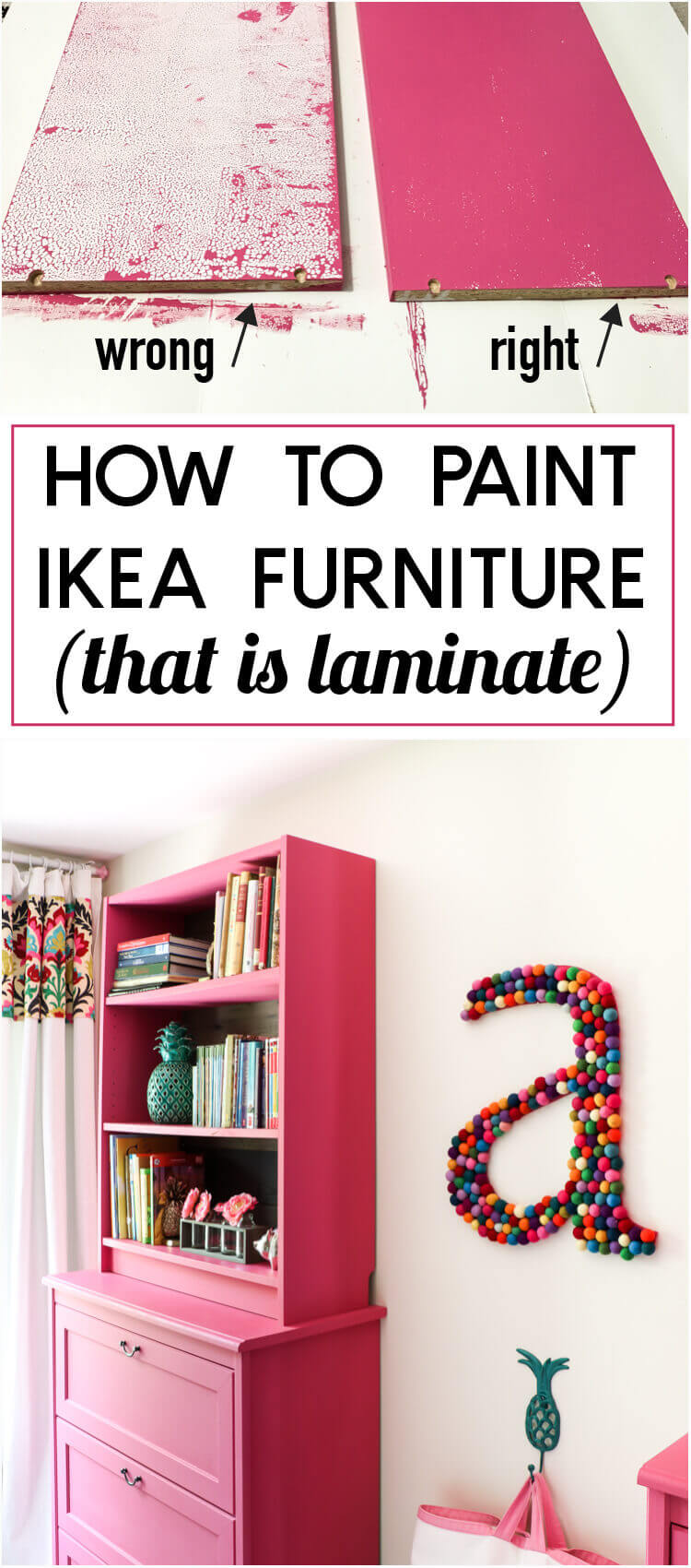 Giving Laminate Ikea Pieces a Paint Makeover