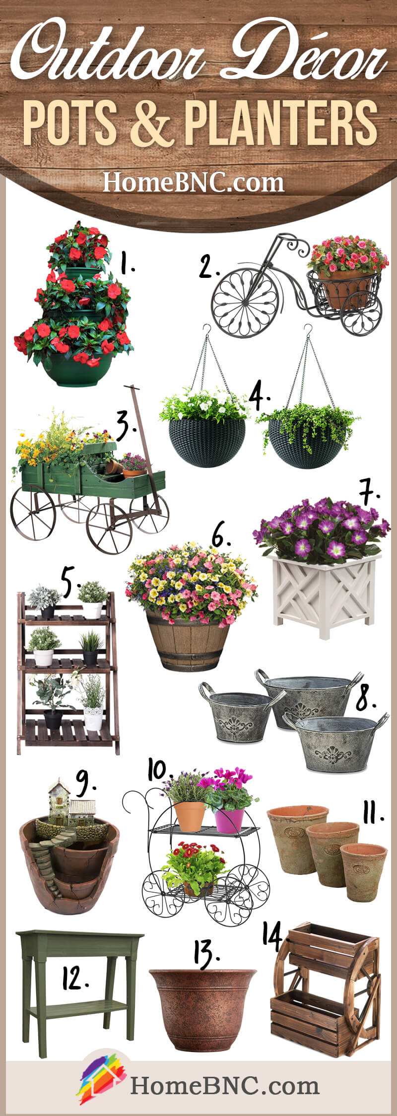 Pots and Planters Outdoor Decoration Ideas