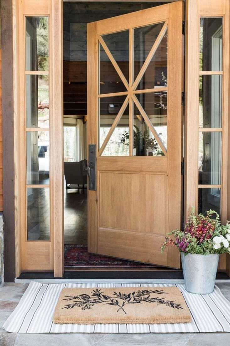 Delicieux Light Wood And Glass Combo Front Door