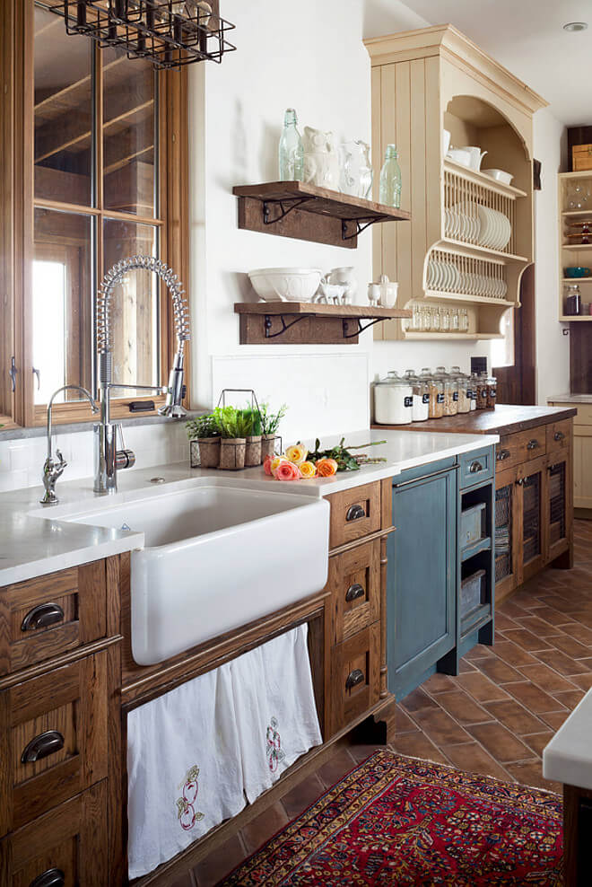 Antique Country Kitchen Cabinets 35 Best Farmhouse Kitchen CabiIdeas and Designs for 2021