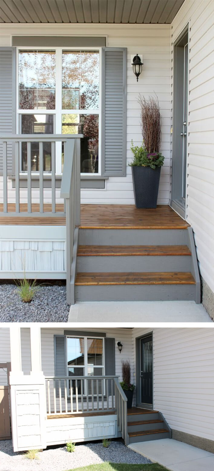 Porch Remodel Ideas with Wood Floors