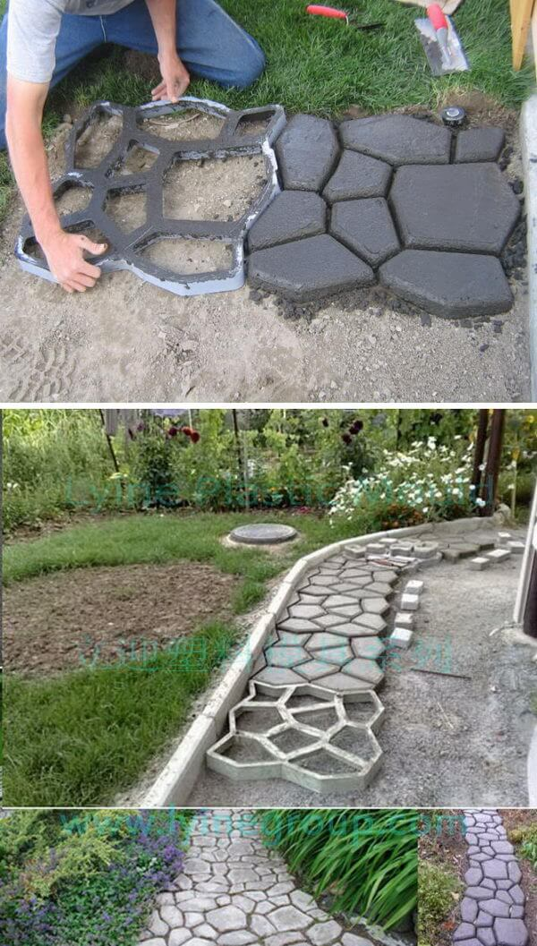 Stone Landscape Projects : Best diy backyard concrete projects and ideas for