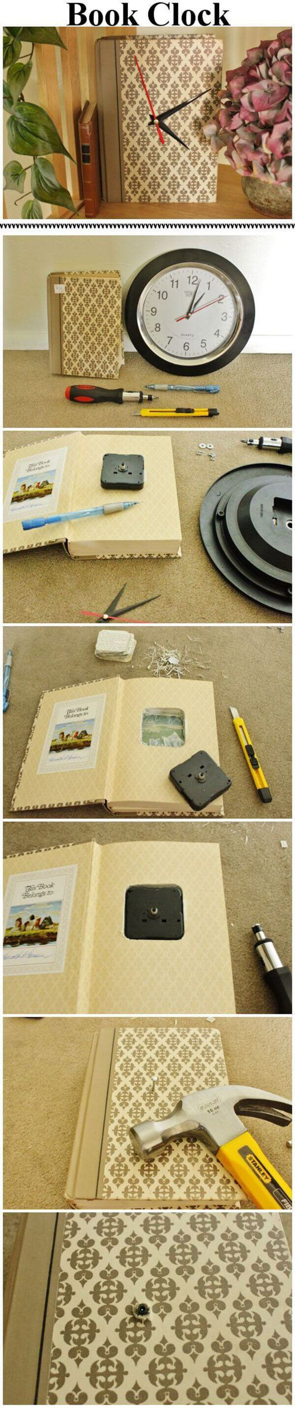 DIY Wall Clock Ideas for Avid Readers
