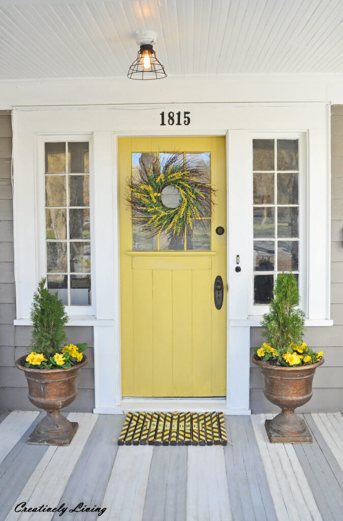 Full of Sunshine Yellow Front Door & 37 Best Farmhouse Front Door Ideas and Designs for 2018