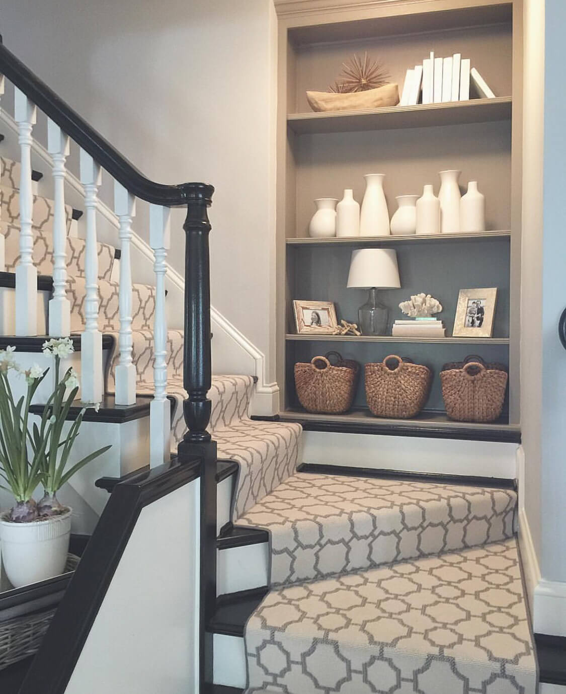 Basement Stair Landing Decorating: 28 Best Stairway Decorating Ideas And Designs For 2019