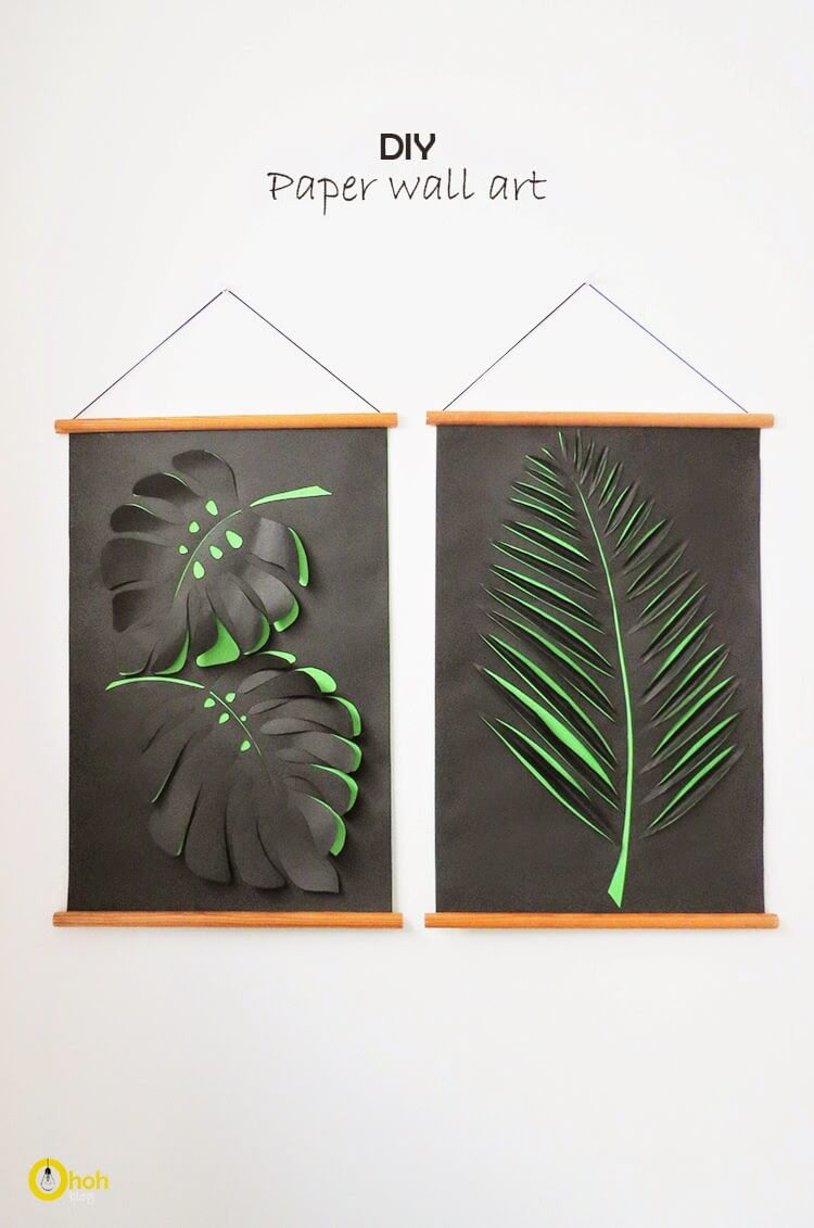 Paper Art Leaf Wall Hangings