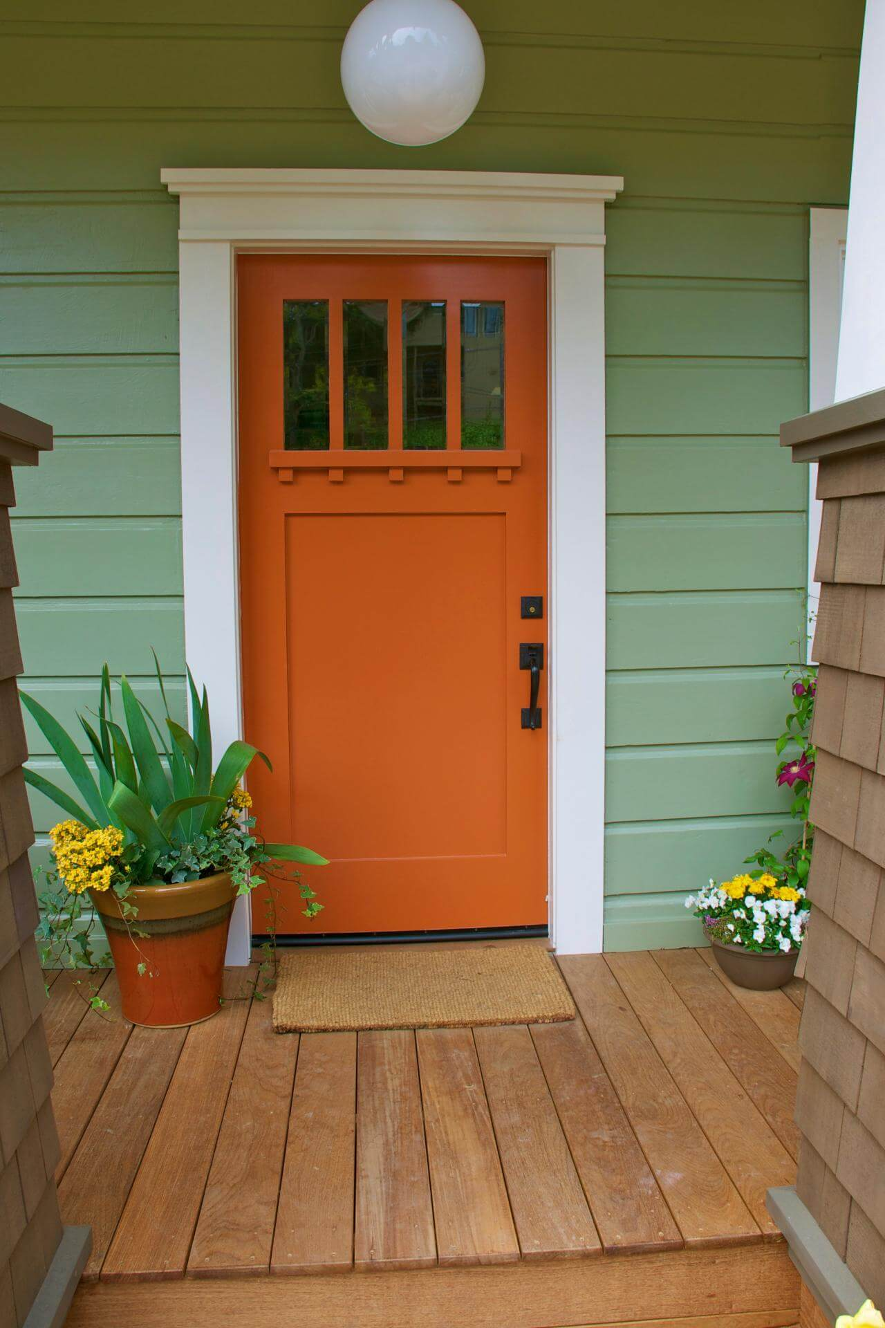 Bold Bright And Beautiful Orange Front Door Homebnc