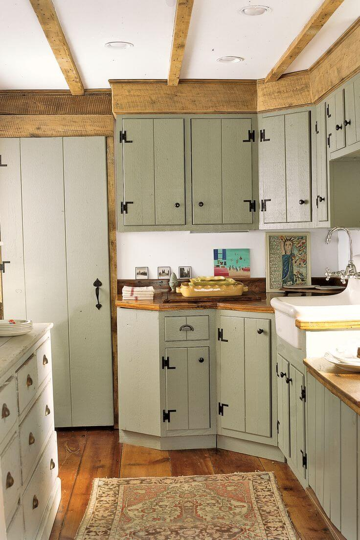 Vintage Kitchen Ideas: 35 Best Farmhouse Kitchen Cabinet Ideas And Designs For 2019