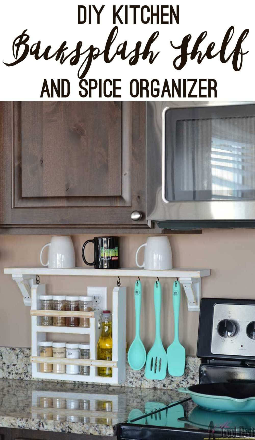 Shallow Space Spice and Utensil Organizer