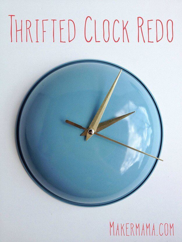 Pretty and Practical Enamelware Clock Project